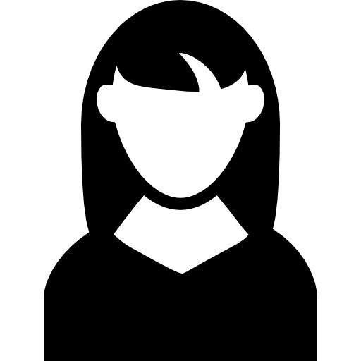 Woman With Dark Long Hair Avatar Icons Free Download