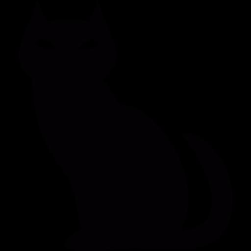 Black Evil Cat Png Icon