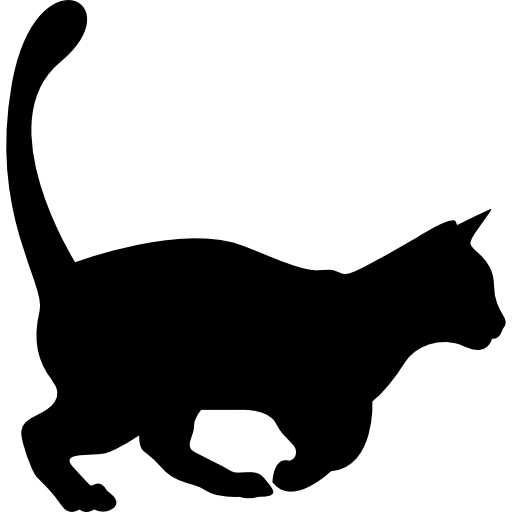 Domestic Cat Shape Icons Free Download