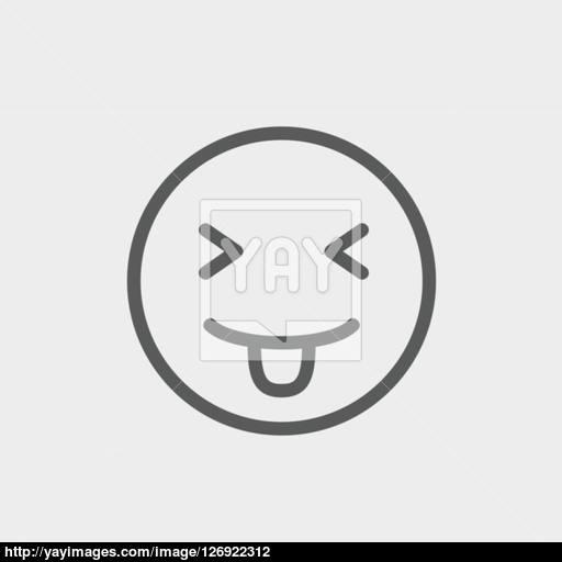 Funny Thin Line Icon Vector