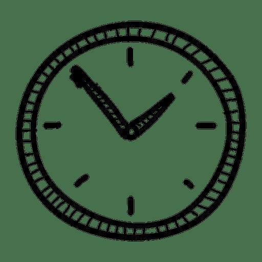 Hand Drawn Wall Clock