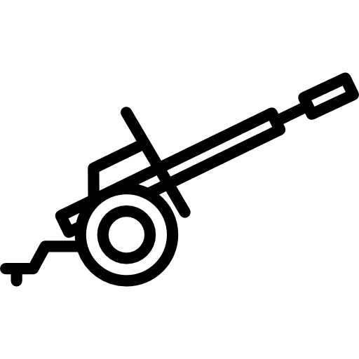 Cannon, Fire, Artillery, Weapons, Shoot, Fuse Icon