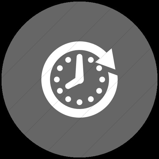 Flat Circle White On Gray Raphael Clock Future Icon