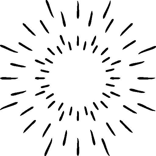 Universe, Sunburst, Space, Galaxy, Sun Icon