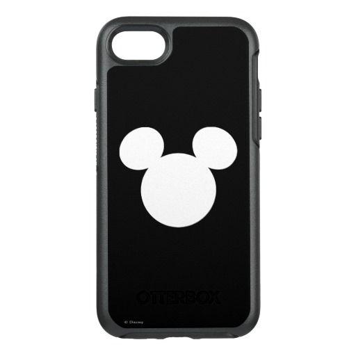 Disney Logo White Mickey Icon Otterbox Iphone Case Disney