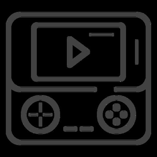 Portable Game Console Stroke Icon