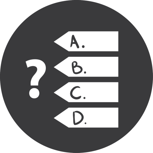 Quiz Games Grey Icon