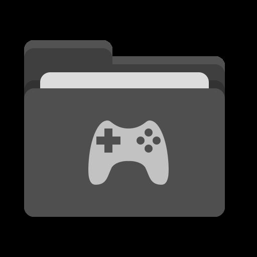 Folder, Black, Games Icon Free Of Papirus Places
