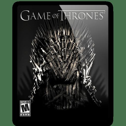 Thrones Black Game Icons