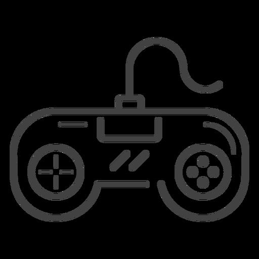 Retro Gamepad Stroke Icon