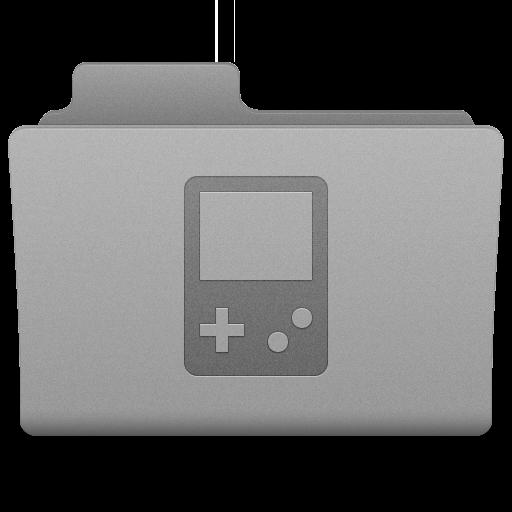 Grey Games Folder Icon