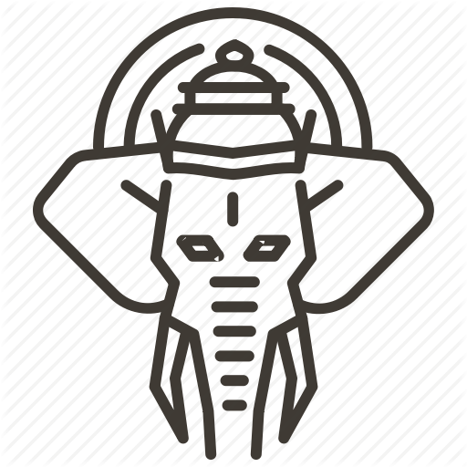Elephant, Ganesh, Ganesha, God, Hindu, Mythology Icon
