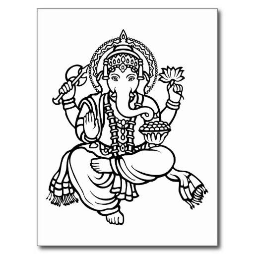 Ganesh Hindu Buddhist Deities Postcard