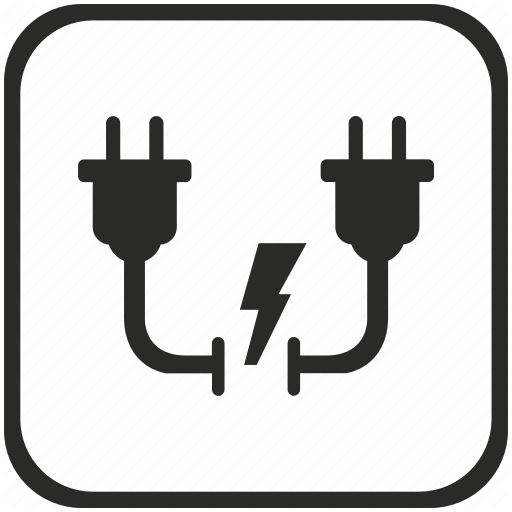 Connection, Electric, Electricity, Gap, Shock, Socket Icon