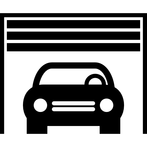 Car Parking Inside A Garage Icons Free Download