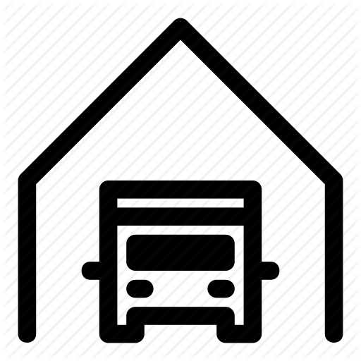 Delivery, Depot, Garage, Parking, Transport, Truck, Van Icon