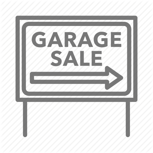 Arrow, Garage, Rummage, Sale, Sign, Yard Icon