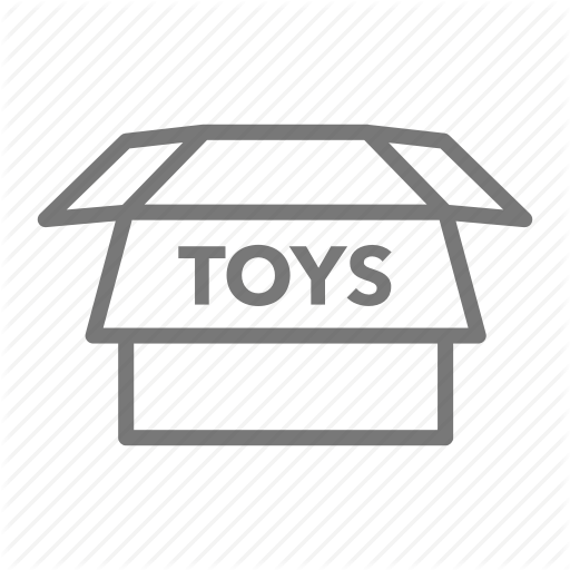Box, Garage Sale, Rummage, Toys, Yard Sale Icon