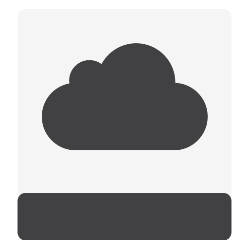Hdd, Icloud, White Icon