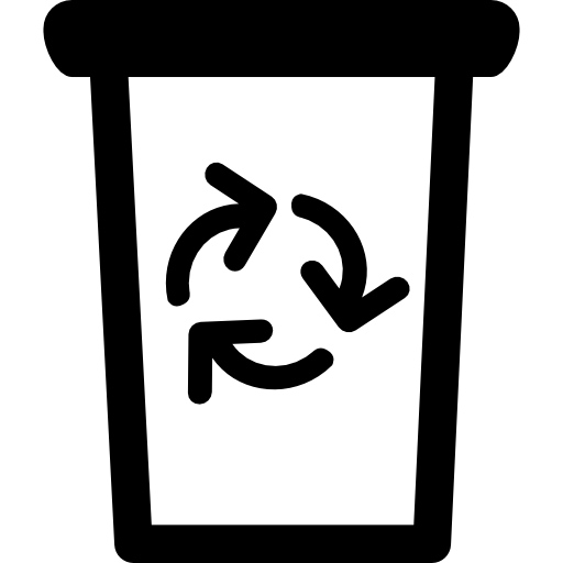 Garbage Can With Recycling Symbol Icons Free Download