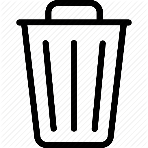 Dustbin, Garbage Can, Recycle Bin, Rubbish Bin, Trash Icon