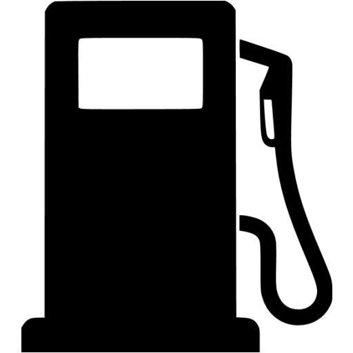 Black Gas Pump Icon
