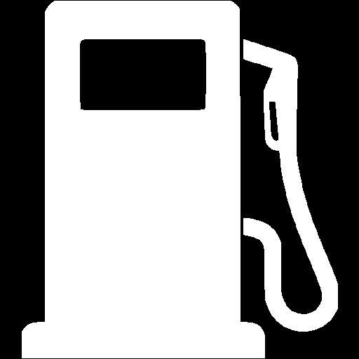 White Gas Pump Icon