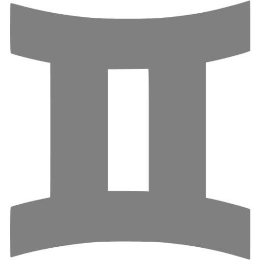 Gray Gemini Icon