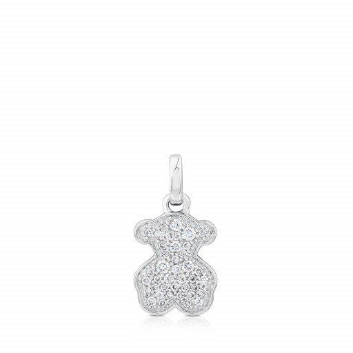 White Gold Icon Gems Pendant With Diamonds