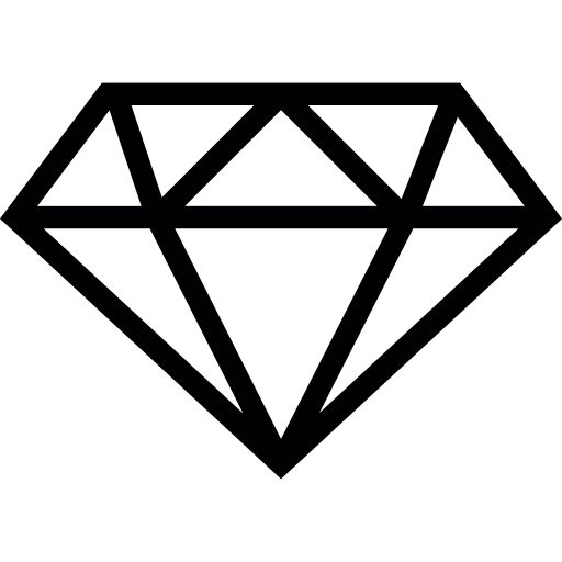 Diamond Outline Icons Free Download