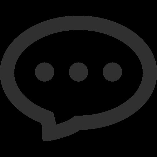 Chat Icon Mono General Iconset Custom Icon Design