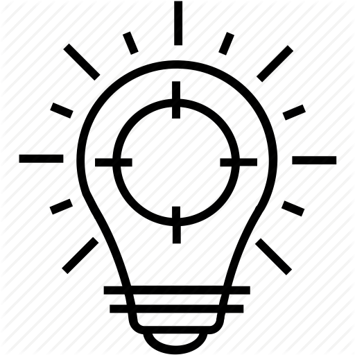 Bulb, Define Goal, Focu, Idea, Idea Generation Icon