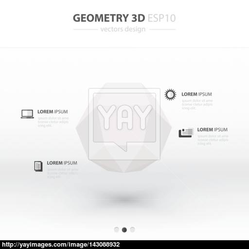 Sphere Geometry Abstract Infographic And Icons Design White C