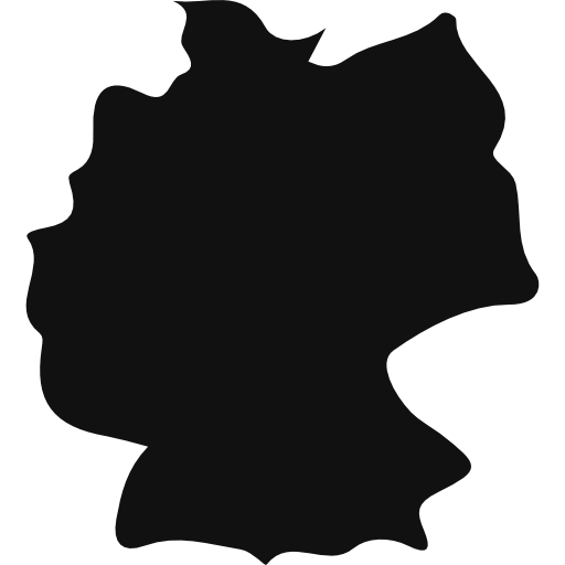 Germany Country Map Black Shape Icons Free Download