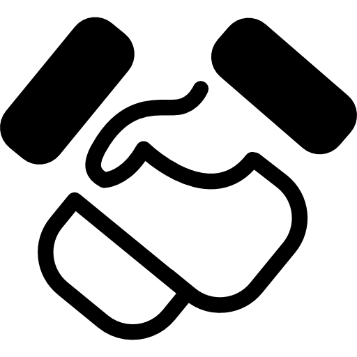 Handshake Cartoon Gesture Icons Free Download