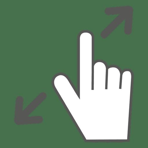 Spread Gesture Icon
