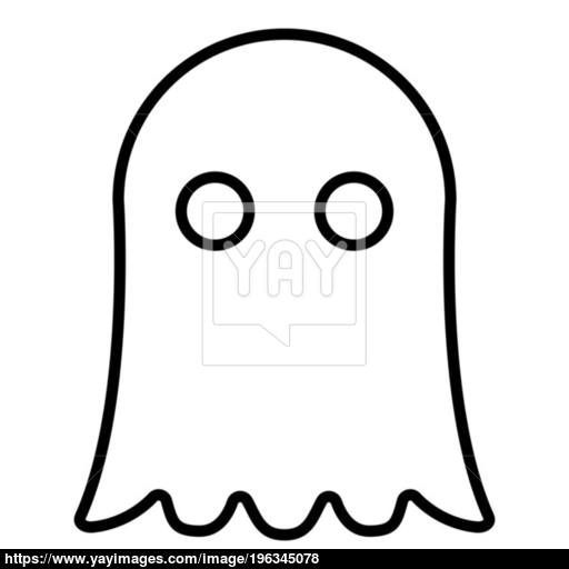 Ghost Icon Black Color Illustration Flat Style Simple Image Vector