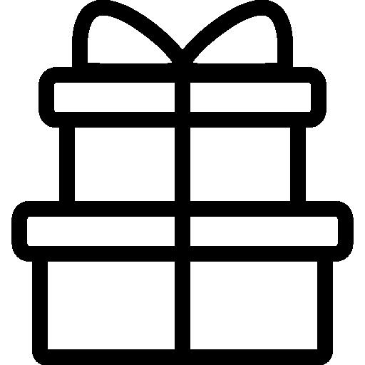 Flat Gift Boxes Icon