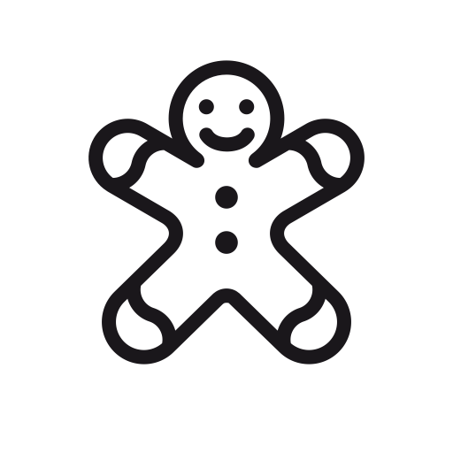 Gingerbread Man, Gingerbread, Christmas, Candy, Cookie, Man Icon