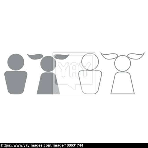 Boy And Girl It Is Black Icon Vector