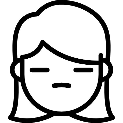 Inexpressive Girl Icons Free Download
