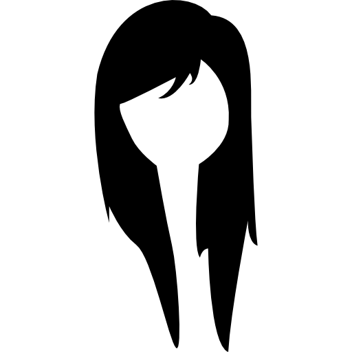 Long Young Female Hair Icons Free Download