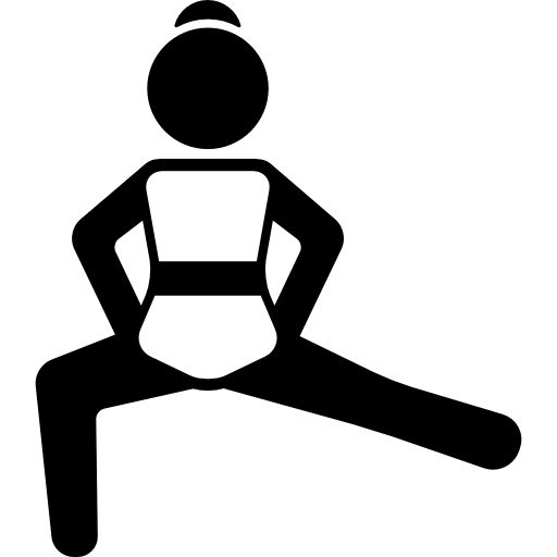 Girl Streching Left Leg And Flexing Right Leg Icons Free Download