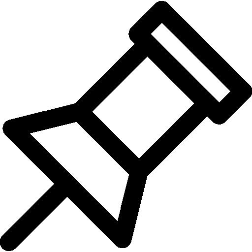 Thumbtack, Needleleftyellow, Location, Push Pin, Needle, Gps Icon