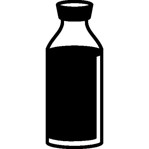 Drink In Transparent Glass Bottle
