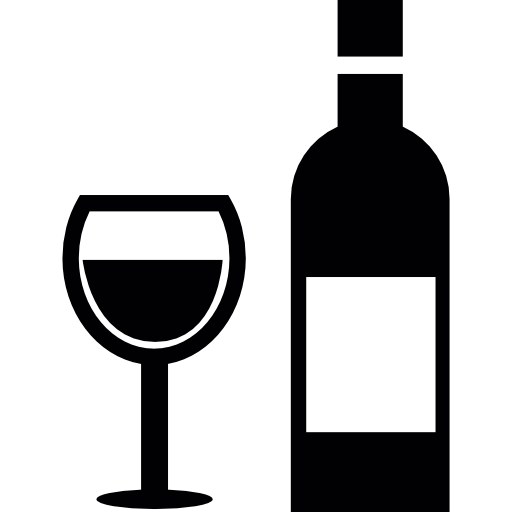 Glass And Bottle Of Wine Icons Free Download