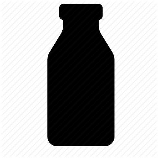 Bottle, Food, Glass, Kefir, Milk Icon