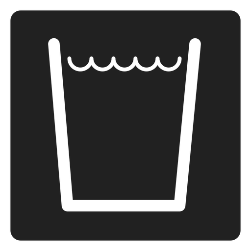 Water In A Glass Square Icon