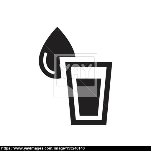 Vector Glass Of Water Icon Vector