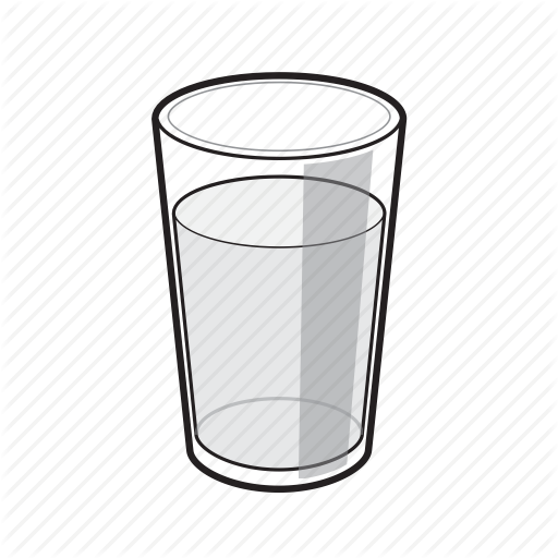 Black And White, Drink, Glass, Glass Of Water, Water, Water Glass Icon